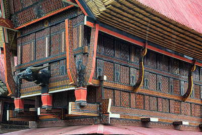 Sulawesi - Toraja ornamental walls of houses