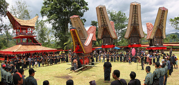 Sulawesi - Toraja Village Funeral Ceremony