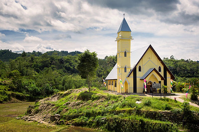 Sulawesi - Catholic church, which is now primary religion for Toraja people