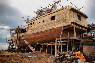 Sulawesi - Boat builders famous for building without drawings and made completely of wood.  In Tanah Beru