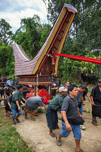 Sulawesi - Toraja Village Funeral Ceremony Procession
