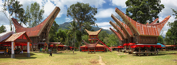 Sulawesi - Toraja Village Funeral Ceremony Site