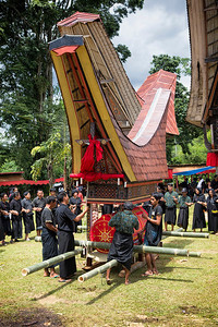 Sulawesi - Toraja Village Funeral Ceremony and Casket