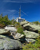 The observation building on the summit seen from the Summit Loop Trail