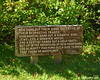 Sign at the Old Man of the Mountain viewing area on profile lake quoting Daniel Webster