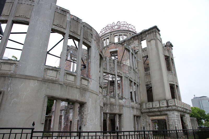 The atomic bomb peace park in Hiroshima.  This park and its adjacent museum should be a manditory visit for all Americans and all citizens of the world.  There should be no way you could walk through it and still advocate the use of nuclear weapons.