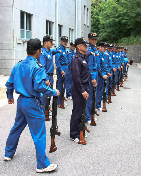 Japanese rifle drill.  Note the guy that breaks bearing at the end of the first squad.