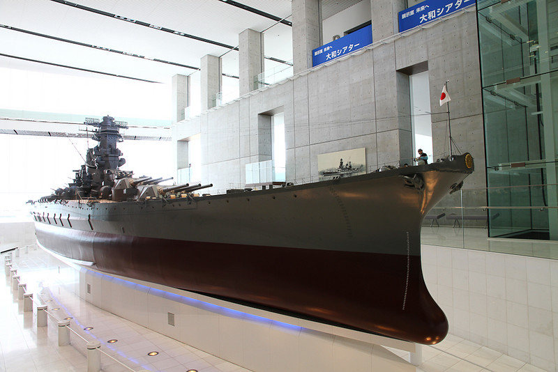The Yamato museum in Kure featured an intricately detailed, huge model of the battleship.  Too bad we sank the real thing, it would be one heck of a museum.