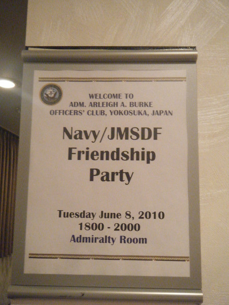 "Open bar ""friendship parties"" and receptions?  I can get used to this!"