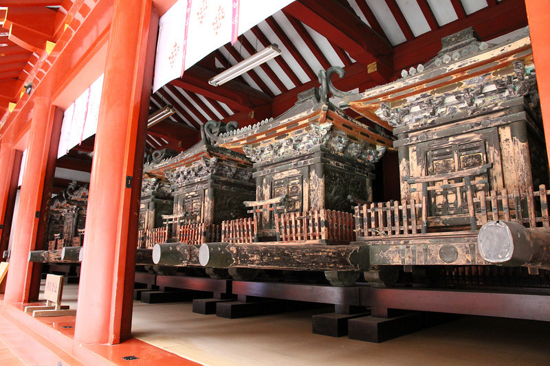 Portable shrines used for parades.