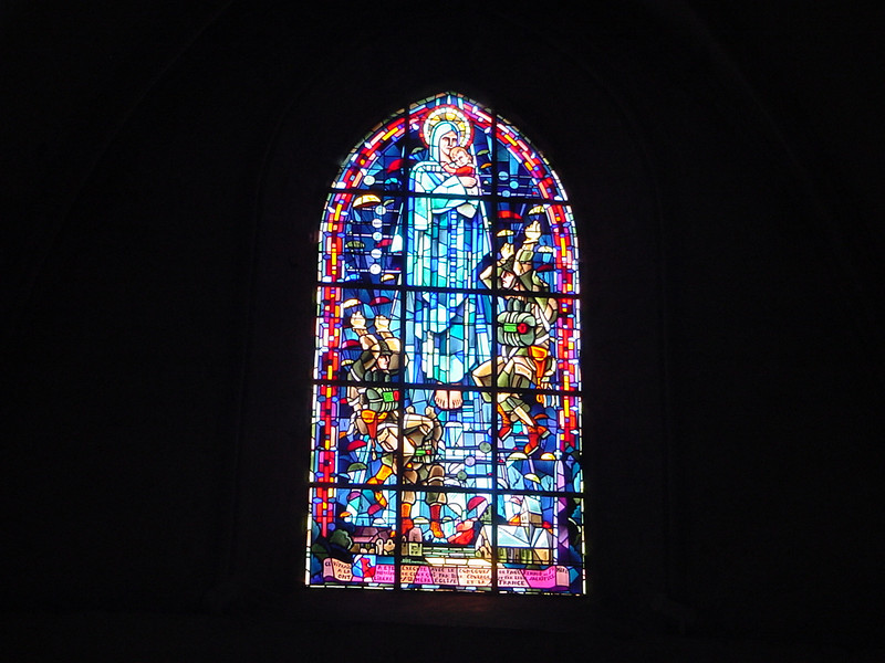 STAINED GLASS FOR AMERICAN FORCES IN NORMANDY
