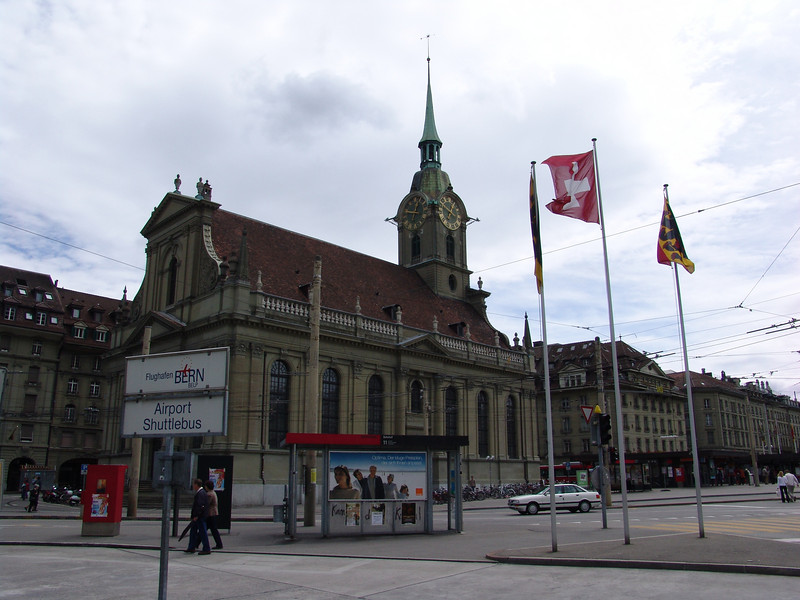 Stop off in Bern, Switzerland on way to Chamonix.  (Train station)