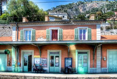 TRAIN STATION, VILLEFRANCHE-SUR-MER, FRANCE