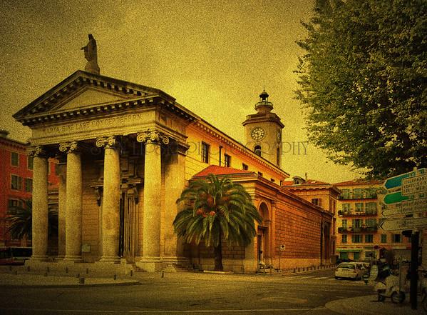 """""""CHURCH OF NOTRE DAME DU PORT"""", NICE, FRANCE"""