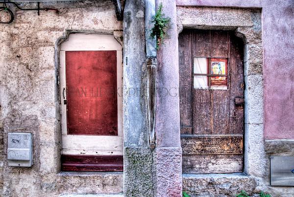 TWO DOORS, VILLEFRANCHE-SUR-MER, FRANCE