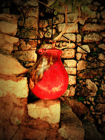 """RED POTTERY"", EZE-LE-VILLAGE, FRANCE"