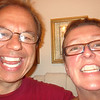 WE CANNOT BE GOOFIER THAN WE ALREADY ARE!!  WE PUT THOSE WHITE STRIPS ON OUR TEETH AND I WAS SO EXCITED ABOUT HAVING A FULL SET OF TEETH FOR THE FIRST TIME IN 58 YRS...I HAD TO TAKE A PHOTO...