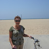 HERE I AM ON THAT 10 MILE BIKE RIDE IN SANTA MONICA...BRUTAL BUT FUN...