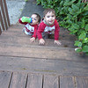 THE TWINS CLIMBING THE FRONT STEPS (IN THEIR YOUNGER YEARS)...