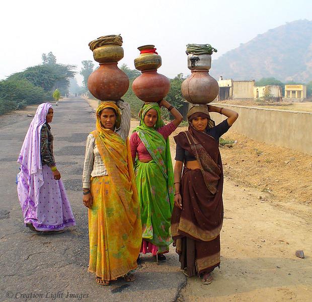Rajashtani Women Carrying Water