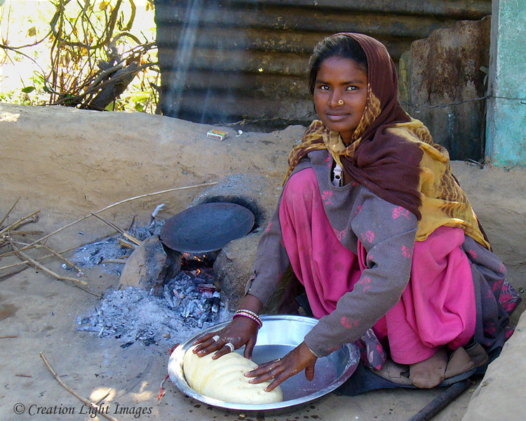 Girl Making Chipatis