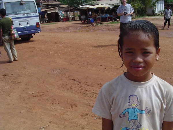 Young cambodian girl smiles