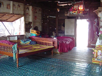 Cambodian style interior of house