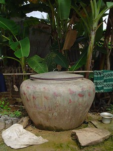 Cambodian home water holder