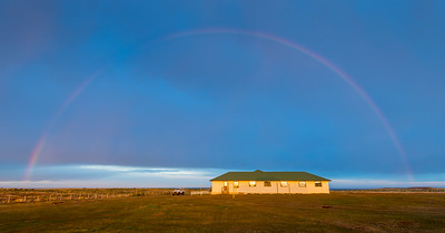 Rainbow at Sea Lion Lodge, Falkland Islands