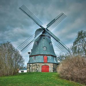 Windmill vs the blue sky