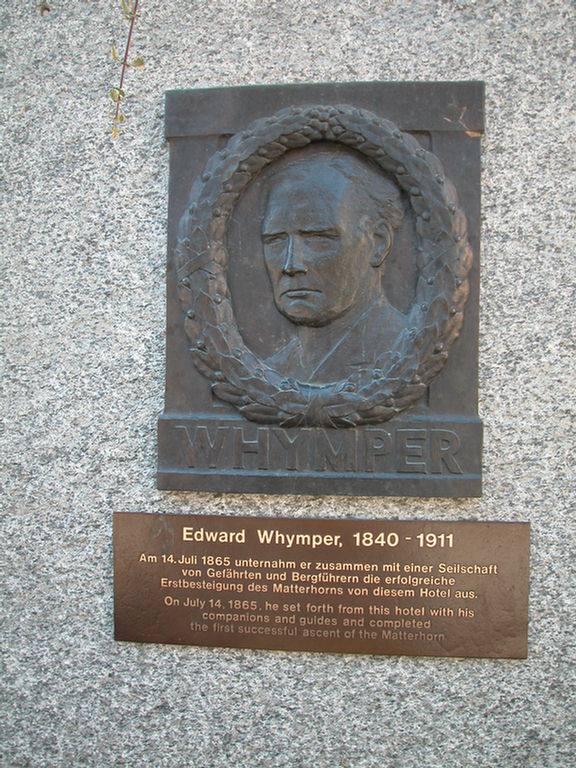 Zermatt - Edward Whymper - first person to climb the Matterhorn