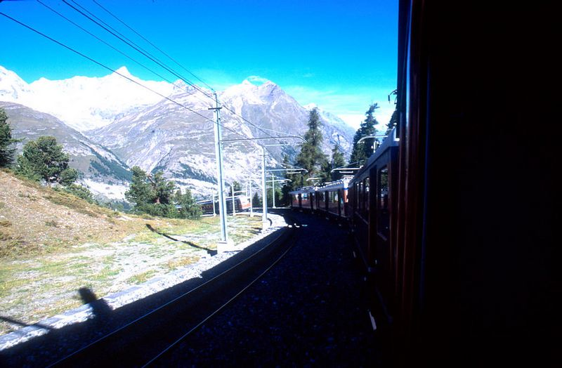 Heading back down to Zermatt