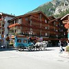 Zermatt, Train Station square