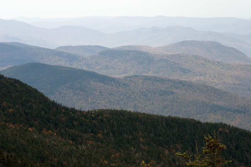 View of the Green Mountains from Mt. Mansfield