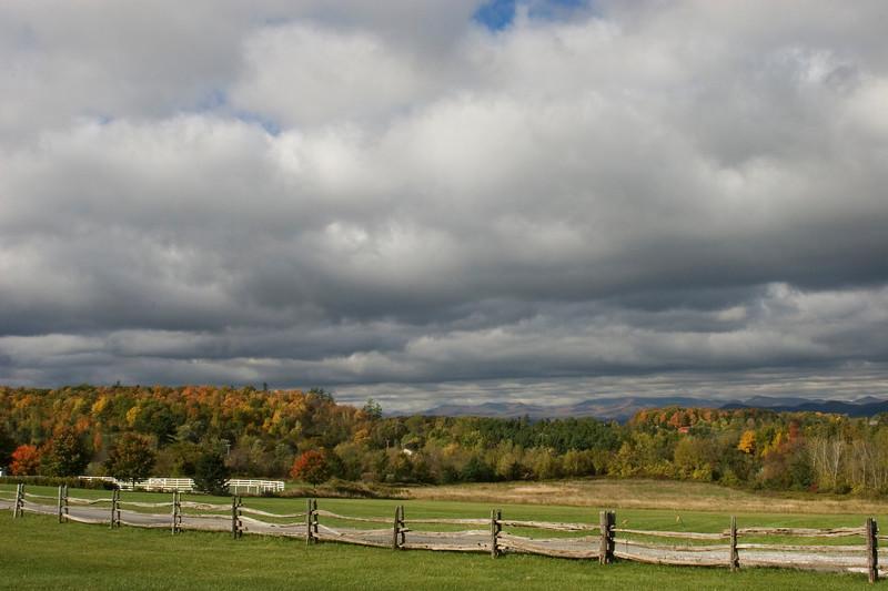 Fall color near Shurberne, VT.