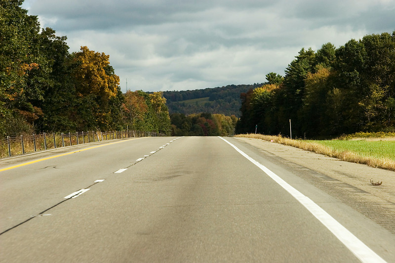 I-88 just east of Binghamton, NY as we start the ride from Vestal to Essex Junction.