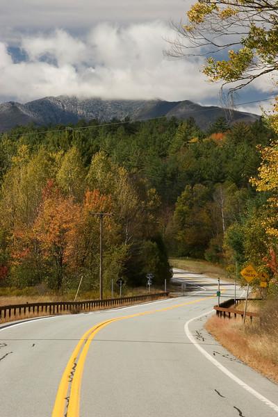 Road through the Adirondacks.