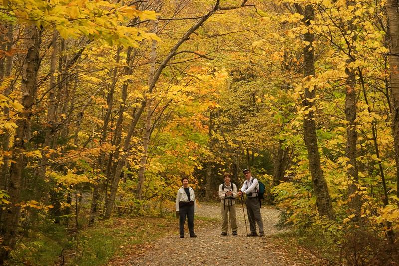 Myra, Ren, Bill near the end of the hike.