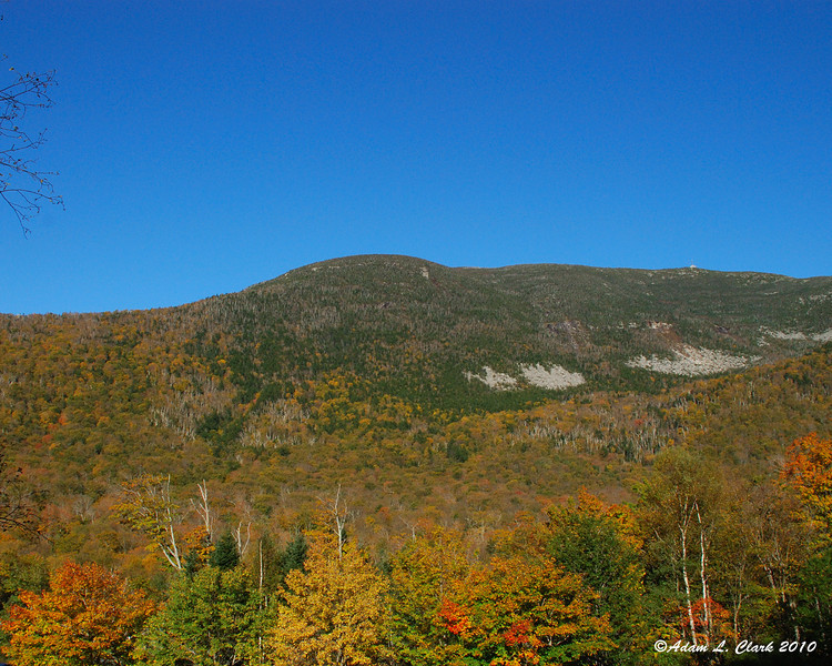 Cannon Mtn from one of the hiking trailheads in Franconia Notch State Park