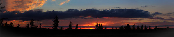 sunset panoramic at the sods