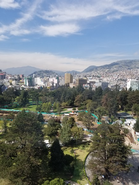 view from 16th floor room at Hilton Quito Colon