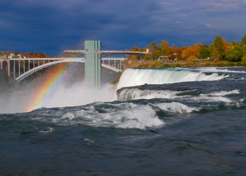 Late Afternoon Break in the Clouds at the Falls<br /> Niagara Falls, New York