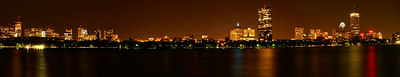 A night time Skyline of Boston