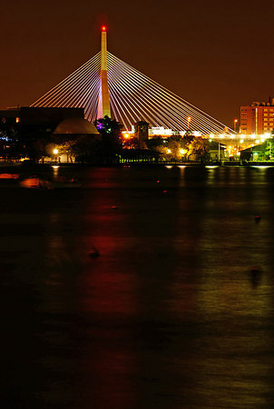 The Zakim bridge of Boston over Charles River