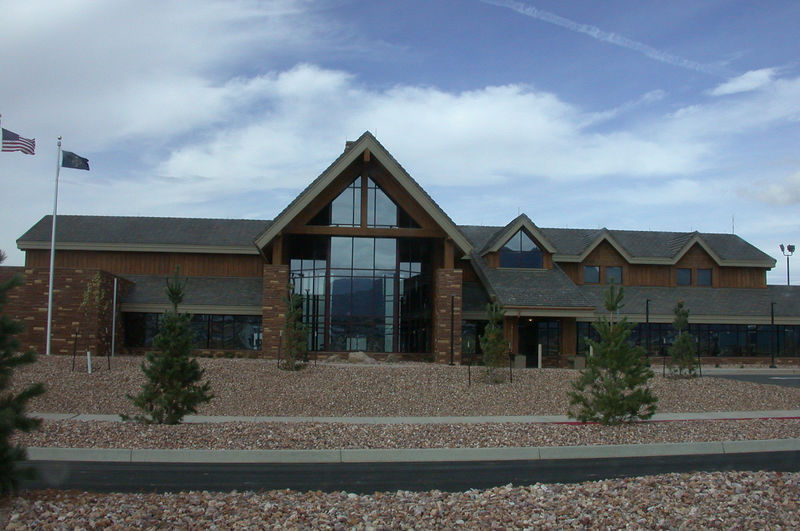 The outside of the Cedar City Airport terminal