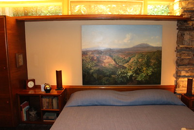 Guest house bedroom. Mrs Kaufmann stayed here when it was hot because this room has direct access to the pool.