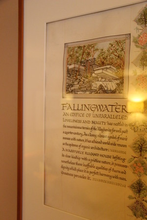The servants' quarters were in the guest house; their rooms are now offices. This is hanging in one of the rooms.