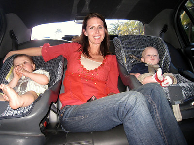 Sean, Erin and Caden in the limo!