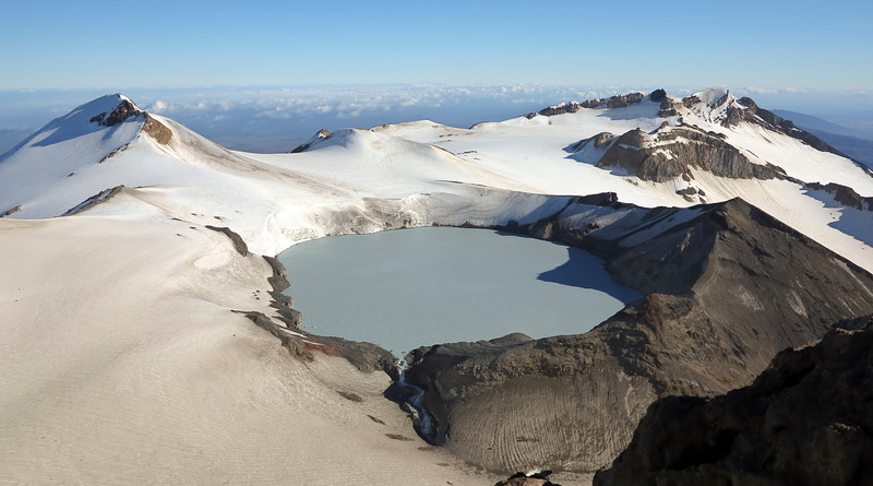 Ruapehu crater lake