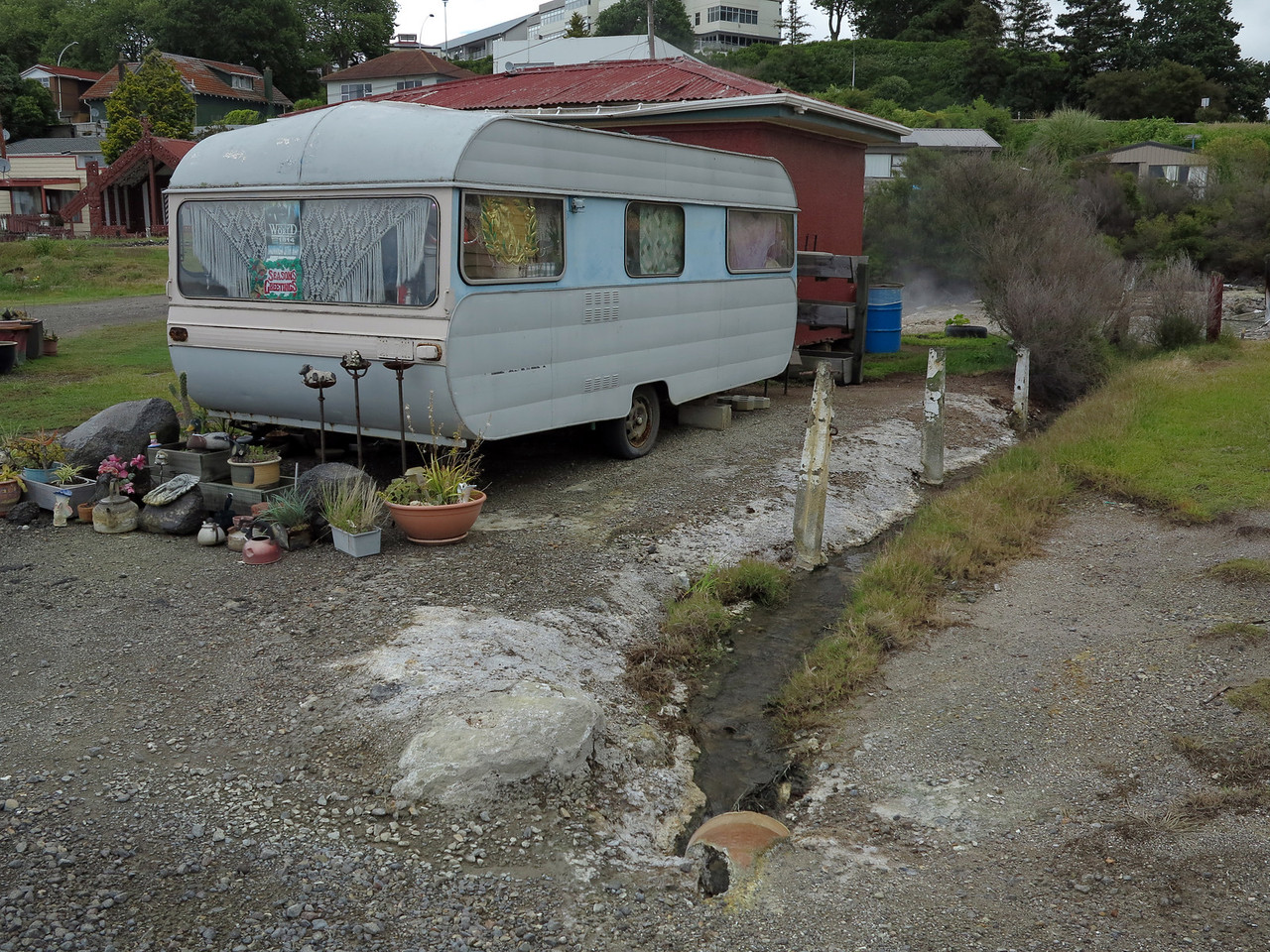 Caravan near St Faiths Church, Rotorua
